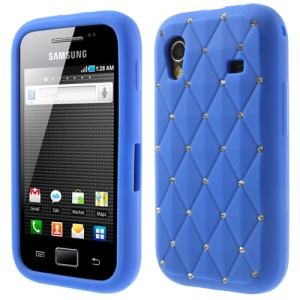 Dark Blue for Samsung S5830 Galaxy Ace Sparkling Starry Sky Rhinestone Silicone Cover