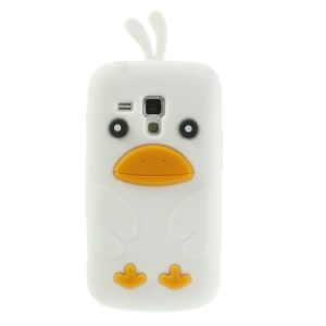 White Adorable 3D Duck Silicone Case for Samsung Galaxy S Duos S7562 S7560 S7560M
