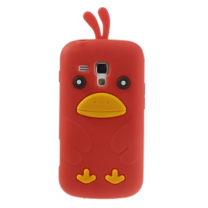 Red Adorable 3D Duck Silicone Case for Samsung Galaxy S Duos S7562 S7560 S7560M