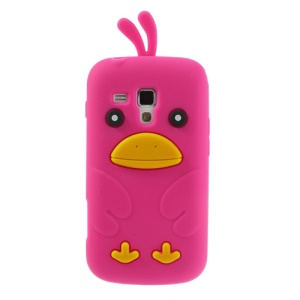 Rose Adorable 3D Duck Silicone Case for Samsung Galaxy S Duos S7562 S7560 S7560M