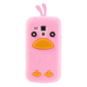 Pink Adorable 3D Duck Silicone Cover for Samsung Galaxy S Duos S7562 S7560 S7560M
