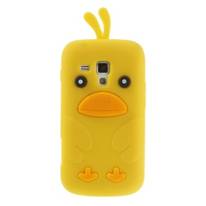 Yellow Adorable 3D Duck Silicone Cover for Samsung Galaxy S Duos S7562 S7560 S7560M