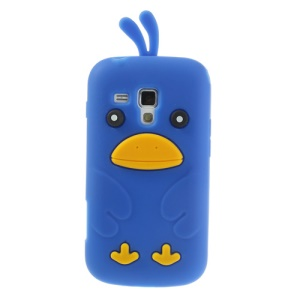 Dark Blue Adorable 3D Duck Silicone Back Case for Samsung Galaxy S Duos S7562 S7560 S7560M