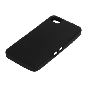 Flexible Silicone Skin Back Case for BlackBerry Z10 BB 10 - Black