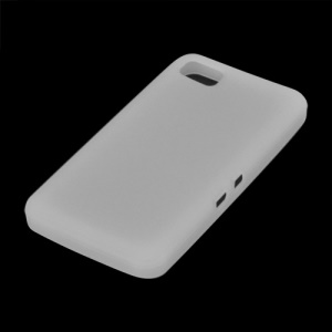 Flexible Silicone Skin Back Case for BlackBerry Z10 BB 10 - White