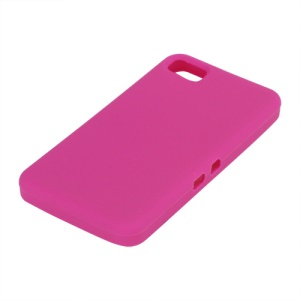 Flexible Silicone Skin Back Case for BlackBerry Z10 BB 10 - Rose