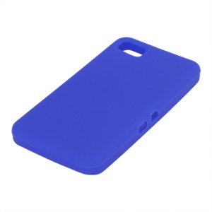 Flexible Silicone Skin Back Case for BlackBerry Z10 BB 10 - Dark Blue