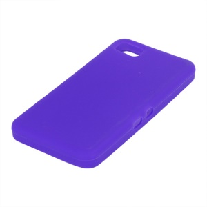 Flexible Silicone Skin Back Case for BlackBerry Z10 BB 10 - Purple
