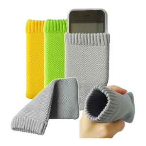 Universal Sock Soft Case Pouch for Nokia/Blackberry/For Samsung/HTC/LG/For Sony Ericsson;Green