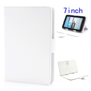 Universal Folio Leather Stand Case Cover for 7-inch Tablet PC MID PDA - White
