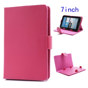 Universal Folio Leather Stand Case Cover for 7-inch Tablet PC MID PDA - Rose
