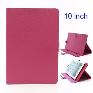 Universal Folio Leather Stand Case Cover for 10-inch Tablet PC PDA MID - Rose