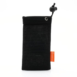Baseus Little Bee Net Cloth Pouch Bag for Samsung i9500 Sony C6603 HTC One M7, Size: 15 x 8cm - Black