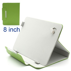 Universal Leather Magnetic Case Stand for 8 inch Tablet For Samsung Galaxy Note 8.0 N5100 - Green