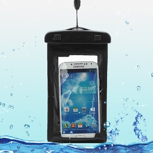 Waterproof Dry Bag Armband Case for Samsung Galaxy S4 I9500/ Galaxy Note II N7100/ Galaxy S 3 I9300 Etc (Size:175x100mm) - Black