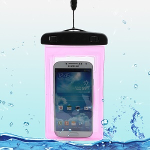 Waterproof Dry Bag Armband Case for Samsung Galaxy S4 I9500/ Galaxy Note II N7100/ Galaxy S 3 I9300 Etc (Size:175x100mm) - Rose