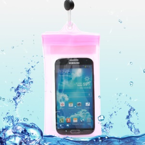 Waterproof Dry Bag Case for Samsung Galaxy S4 I9500/ Galaxy Note II N7100/ Galaxy S 3 I9300 Etc (Size:190x100mm) - Transparent Rose