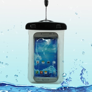 Waterproof Pouch Dry Bag Case for Samsung Galaxy S4 I9500/ Galaxy I9300 / iPhone 5 4S Etc (Size:140x100mm) - Black