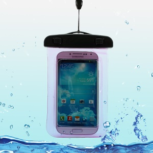 Waterproof Pouch Dry Bag Case for Samsung Galaxy S4 I9500/ Galaxy I9300 / iPhone 5 4S Etc (Size:140x100mm) - Rose