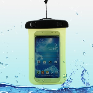 Waterproof Pouch Dry Bag Case for Samsung Galaxy S4 I9500/ Galaxy I9300 / iPhone 5 4S Etc (Size:140x100mm) - Yellow