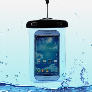 Waterproof Pouch Dry Bag Case for Samsung Galaxy S4 I9500/ Galaxy I9300 / iPhone 5 4S Etc (Size:140x100mm) - Blue