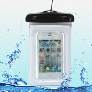 Waterproof Dry Bag Pack Case Pouch for Samsung Galaxy S4 I9500/ Galaxy I9300 / iPhone 5 4S Etc (Size:155x105mm) - White
