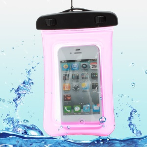 Waterproof Dry Bag Pack Case Pouch for Samsung Galaxy S4 I9500/ Galaxy I9300 / iPhone 5 4S Etc (Size:155x105mm) - Rose