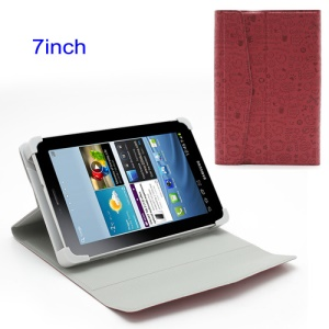Red Cute Cartoon Magnetic Leather Case Cover with Stand for 7-inch Tablet PC