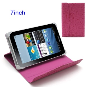 Rose Cute Cartoon Magnetic Leather Cover with Stand for 7-inch Tablet PC
