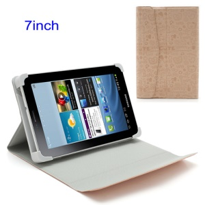 Pink Cute Cartoon 7-inch Tablet PC Magnetic Leather Shell with Stand
