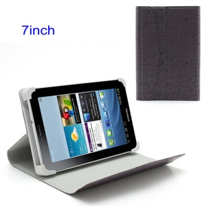Purple 7-inch Tablet PC Universal Cute Cartoon Magnetic Leather Case Stand
