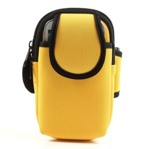 Yellow Soft Workout Armband Case for iPhone 5c 5s 5 4S 4 Samsung Sony BlackBerry Etc 4-4.5inch Cellphones