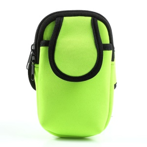 Green Soft Sports Active Armband for iPhone 5c 5s 5 4S 4 Samsung Sony BlackBerry Etc 4-4.5inch Cellphones