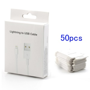 50PCS/Lot Retail Package Box for Lightning 8 pin to USB Cable Cord