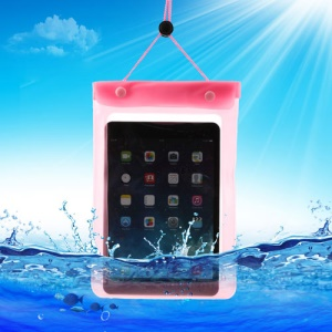 Pink Tablet Waterproof Dry Bag Sleeve Pouch for iPad Mini / Mini 2 Galaxy Tab, Fat Size: 23.5cm x 16.3cm