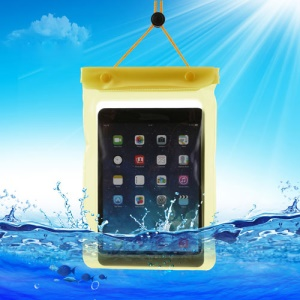 Yellow Tablet Waterproof Dry Bag Sleeve Pouch for iPad Mini / Mini 2 Galaxy Tab, Fat Size: 23.5cm x 16.3cm