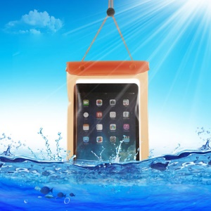 Orange Tablet Waterproof Dry Bag Sleeve Pouch for iPad Mini / Mini 2 Galaxy Tab, Fat Size: 23.5cm x 16.3cm
