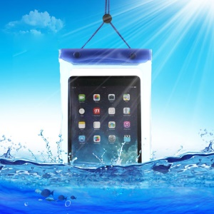 Blue Tablet Waterproof Dry Bag Sleeve Pouch for iPad Mini / Mini 2 Galaxy Tab, Fat Size: 23.5cm x 16.3cm
