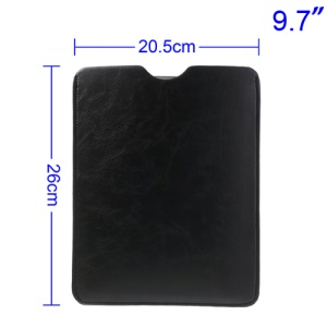 Black Leather Protector Pouch for iPad Air 4 3 2 9.7-inch Tablet PC, Size: 26 x 20.5cm