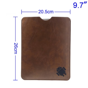 Brown Leather Protective Pouch Case for iPad Air 4 3 2 9.7-inch Tablet PC, Size: 26 x 20.5cm