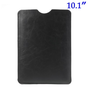 Black Soft Leather Pouch Case for iPad Air 4 3 2 Samsung Galaxy Note 10.1 N8000 N8010 10.1-inch Tablet, Size: 26.2 x 19.7cm