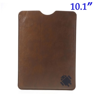 Brown Soft Leather Pouch Cover for iPad Air 4 3 2 Samsung Galaxy Note 10.1 N8000 N8010 10.1-inch Tablet, Size: 26.2 x 19.7cm