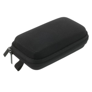 Black Earphone Cable Charging Cable Battery Zipper Storage Box Carrying Case Bag, Size: 11.5 x 7 x 3.5CM
