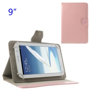 Universal Crazy Horse PU Leather Case w/ Stand for Samsung P7300 P7310 P7320 9-inch Tablet PC - Pink
