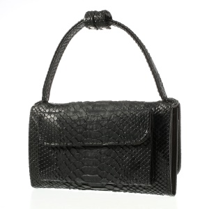 Black Chic Snake Skin PU + Genuine Leather Wallet Case Bag for Samsung S5/ Sony Xperia Z2 T2/ LG L90 Etc, Size: 18 x 9cm
