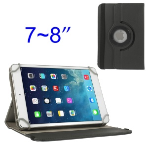 Black 360 Degree Rotary Twill Leather Stand Case for iPad Mini 2 Retina / iPad Mini 7-8 inch Tablet PC