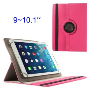 Rose 360 Degree Rotary Twill Leather Stand Case for iPad Air 4 / Samsung Tab 10.1 9-10 inch Tablet PC