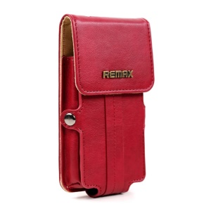 Rose Remax Pedestrian Series Leather Case Pouch for iPhone 5s 5c 5 4s 4 / Samsung Galaxy S5 mini G800, Size: 142 x 78 x 30mm (S)