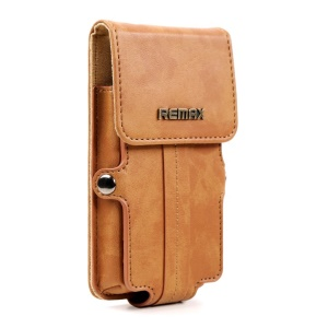 Coffee Remax Pedestrian Series Leather Pouch Holster Case for iPhone 5s 5c 5 4s 4 / Samsung Galaxy S5 mini G800, Size: 142 x 78 x 30mm (S)