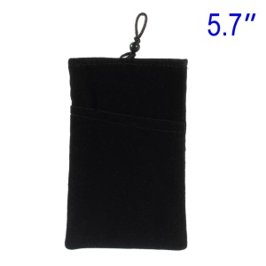 Black Universal Soft Velvet Pouch Sleeve for Samsung Galaxy Note 2 / Note 3 etc, Size: 165 x 10mm